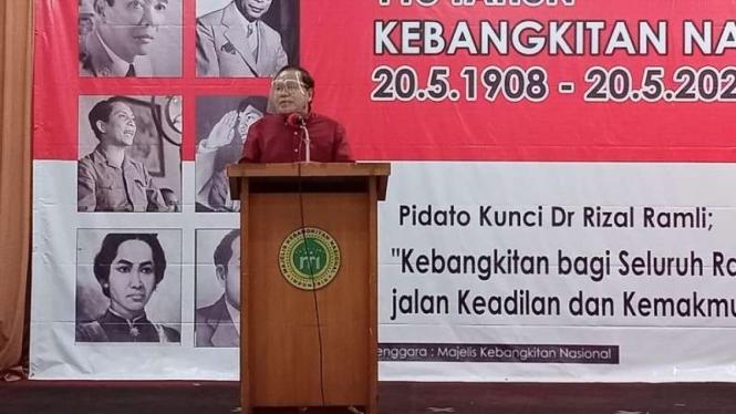 Rizal Ramli, dalam orasi kebangsaan di Gedung Joang, Jakarta, Jumat, 28 Mei 2021