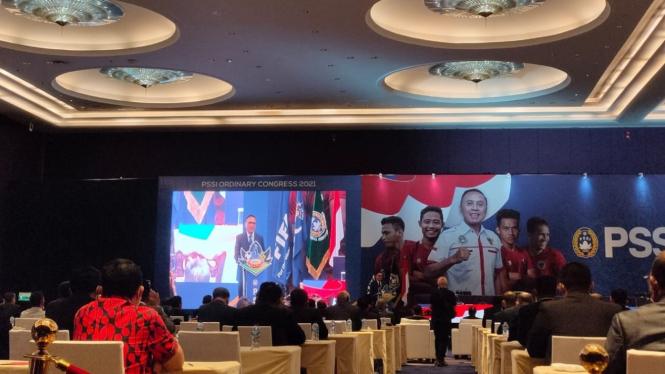 Ketua Umum PSSI, Mochamad Iriawan saat Kongres Tahunan 2021