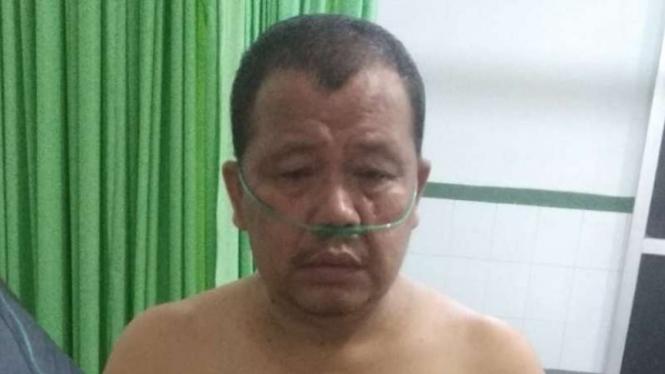 Korban penusukan masih menjalani perawatan di Rumah Sakit Baturaja, Kabupaten Ogan Komering Ulu, Sumatera Selatan, Sabtu, 29 Mei 2021.