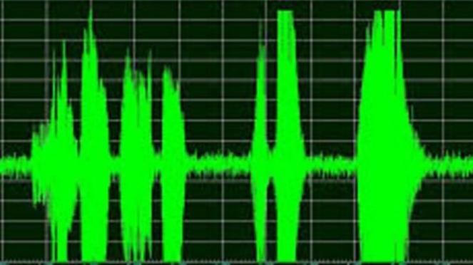 Ilustrasi rekaman suara.