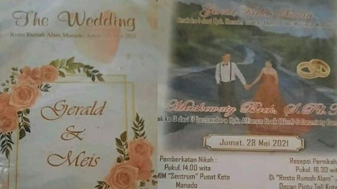 Viral detik-detik pernikahan gagal, kartu undangan sudah tersebar (Instagram/nyonya_gosip)