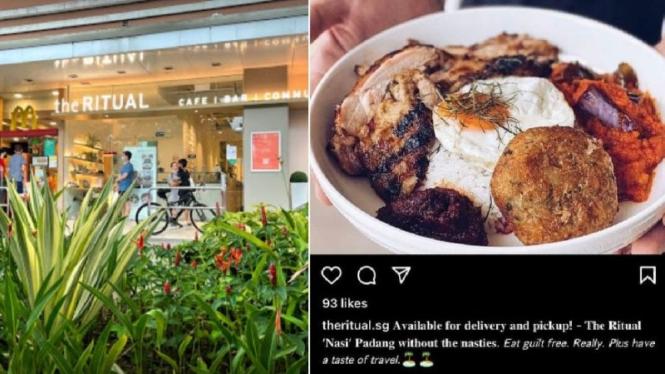 Menu Nasi Padang versi restoran Singapura, The Ritual.