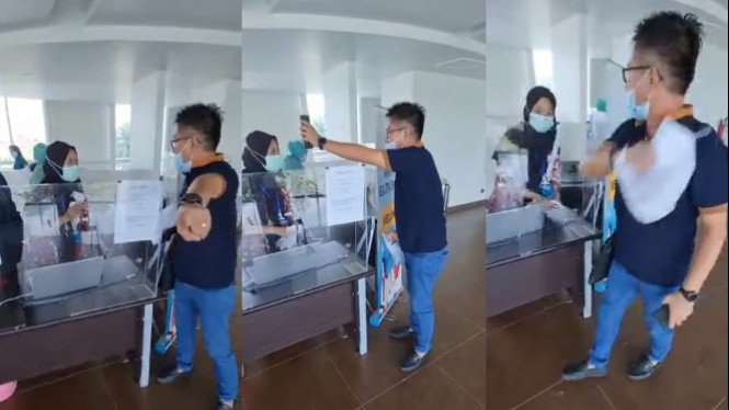 Viral penumpang bentak-bentak petugas bandara (Instagram/warung_jurnalis)