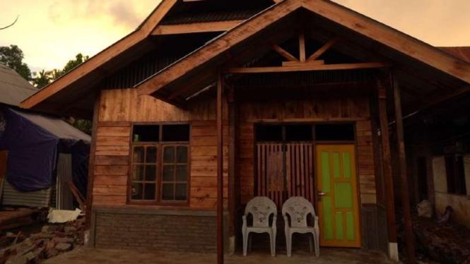Rumah-rumah yang dibangun ulang oleh Yayasan Bakrie Amanah bekerja sama dengan DT Peduli dan Laznas Baitul Maal Muamalat.