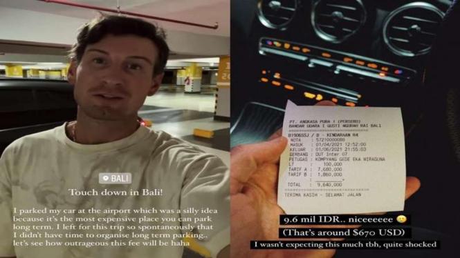 Viral bule bayar parkir di bandara Bali Rp9,6 juta