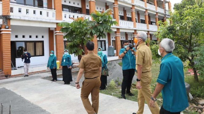 Tempat perawatan dan isolasi pasien Covid-19 di Kudus Jateng.