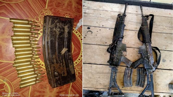 Tim gabungan TNI-Polri menemukan senjata yang dicuri KKB Papua