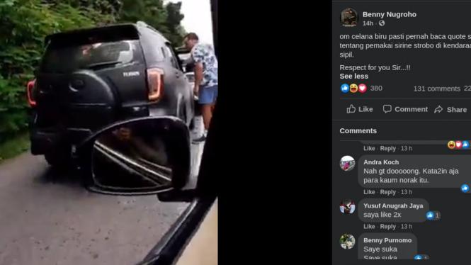 Viral pengemudi Terios dimaki warga sipil.