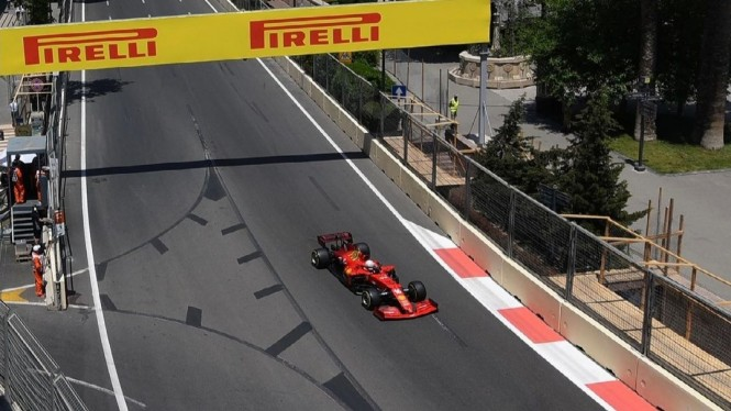 Pembalap Ferrari, Charles Leclerc.
