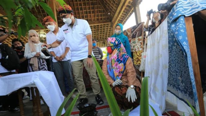 Sandiaga Uno kunjungi Desa Candirejo, Kabupaten Magelang