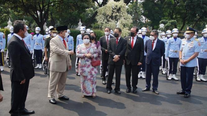 Megawati, Prabowo, Prananda Prabowo, Budi Gunawan dan Hasto Kristiyanto