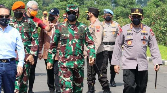 Kunjungan Panglima TNI dan Kapolri ke Kudus.