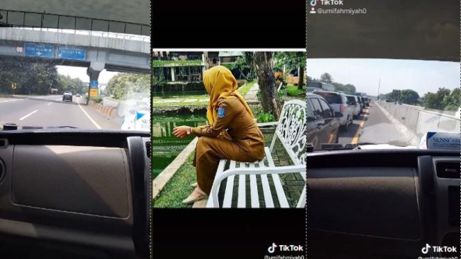 Viral video istri kejar suami bawa pelakor ke Bandung  (TikTok/ Umifahmiyah0)