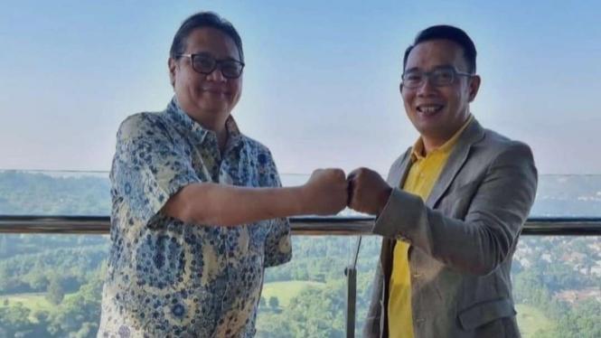 Airlangga Hartarto dan Ridwan Kamil