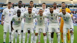 Timnas Prancis saat menghadapi Bulgaria