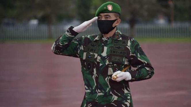 VIVA Militer: Brigjen TNI Tri Budi Utomo saat menjabat Danrem 052/Wijayakrama