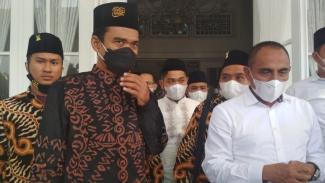 Ustaz Abdul Somad dengan Gubernur Sumut Edy Rahmayadi