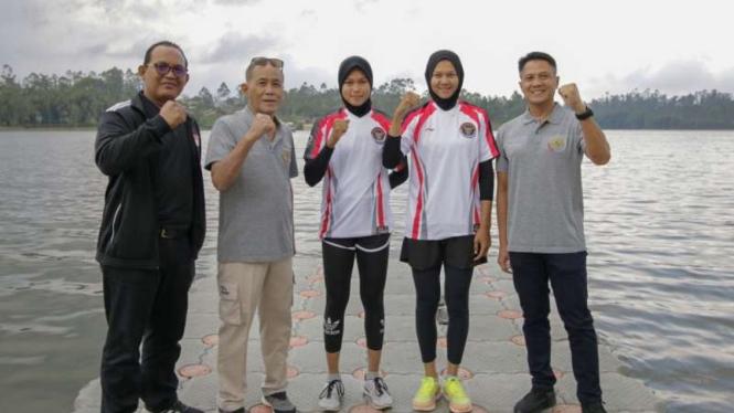 Tim dayung Indonesia.