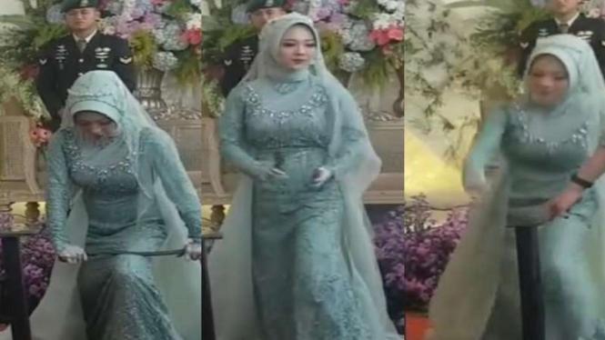Aksi pengantin perempuan patahkan besi