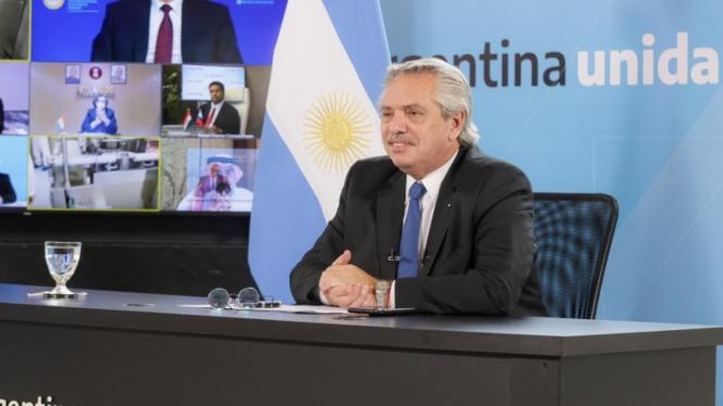 Presiden Argentina, Alberto Fernandez.