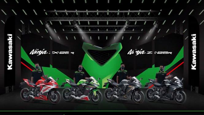 Peluncuran Kawasaki Ninja ZX-25R warna baru di Indonesia