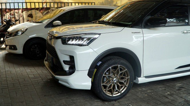 Modifikasi pelek Toyota Raize.