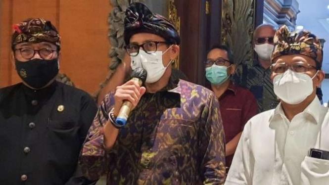 Menteri Pariwisata dan Ekonomi Kreatif Sandiaga Salahuddin Uno.