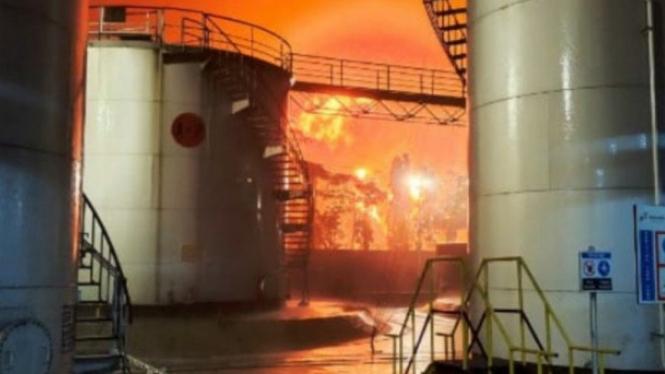 Kilang Cilacap Pertamina kebakaran