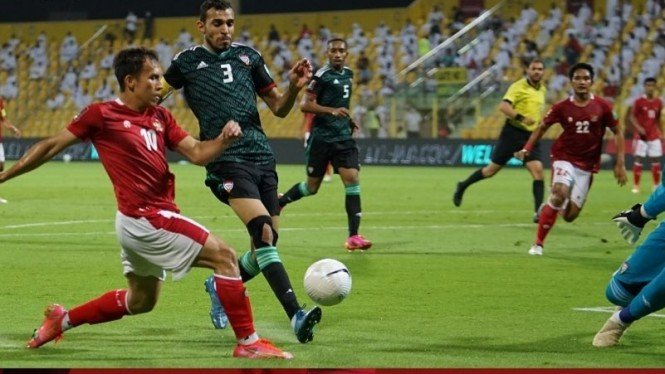 Pertandingan Timnas Indonesia vs Uni Emirat Arab di Kualifikasi Piala Dunia 2022
