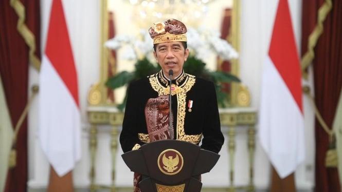 Presiden Jokowi membuka pesta Kesenian Bali ke-43 pada Sabtu, 12 Juni 2021.