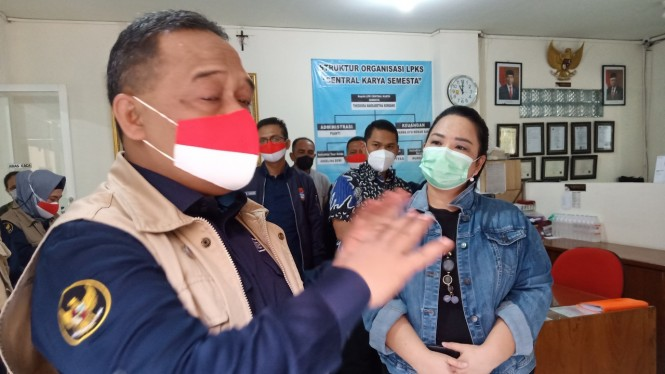 Kepala Badan Perlindungan Pekerja Migran Indonesia (BP2MI) Benny Rhamdani saat Sidak BLK PT CKS.