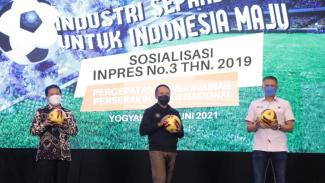 Menpora sosialisasikan Inpres Sepakbola di Yogyakarta