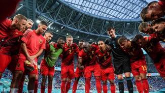 Romelu Lukaku bersama Timnas Belgia di EURO 2020