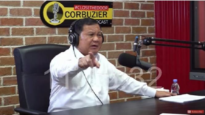 Prabowo jadi bintang tamu di acara Podcast Deddy Corbuzier