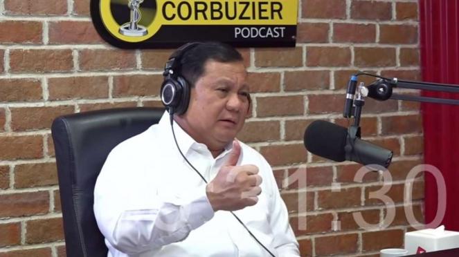 Prabowo Subianto di Podcast Deddy Corbuzier.