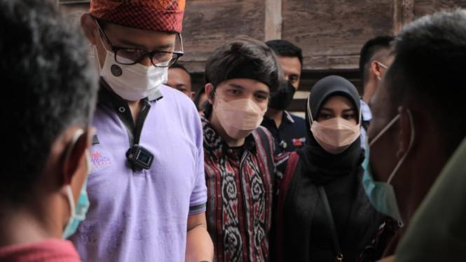 Sandiaga Uno, Atta Halilintar dan Aurel Hermansyah