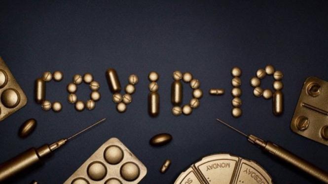 Ilustrasi obat COVID-19.