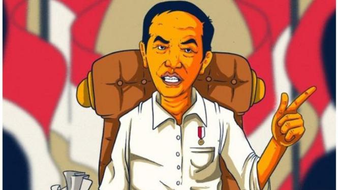 Ilustrasi Jokowi  sudah membentuk Tim Satgas BLBI.