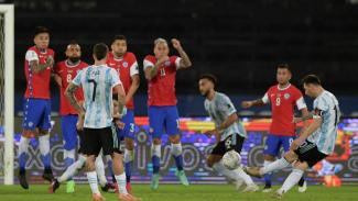 Lionel Messi cetak gol tendangan bebas untuk Argentina