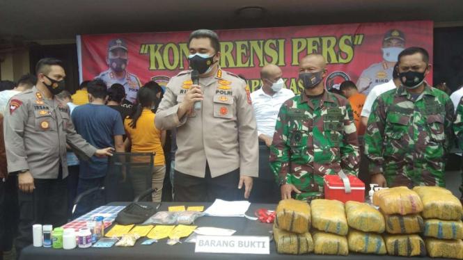 Kapolrestabes Medan, Kombes Pol Riko Sunarko saat jumpa pers.