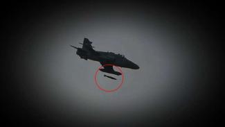 VIVA Militer: Bom dijatuhkan dari pesawat tempur TNI AU.
