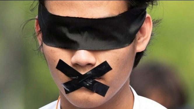 Ilustrasi kebebasan berekspresi | Foto Reuters
