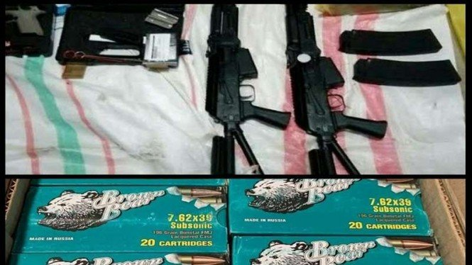 Barang bukti jual beli senpi dan amunisi ke KKB Papua