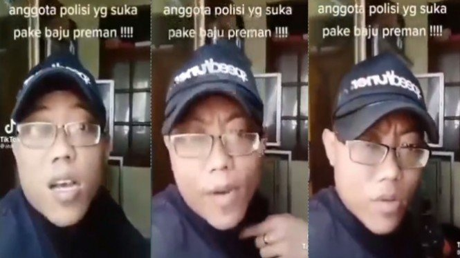 Viral preman keberatan kepada polisi (Instagram/pakde.brengos)