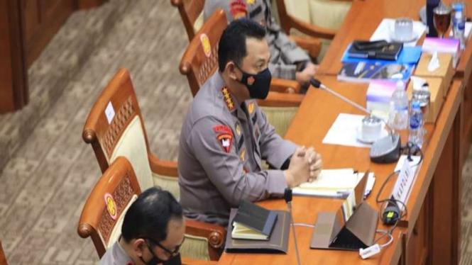 Kapolri Jenderal Listyo Sigit Prabowo saat RDP dengan Komisi III DPR