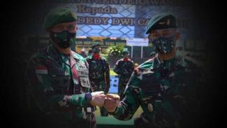 VIVA Militer: Letkol Dedy Dwi Cahyadi dan Mayjen TNI Igantius Yogo.