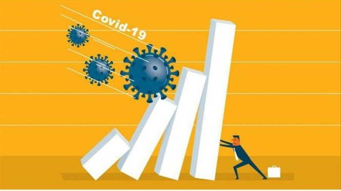 Ilustrasi Covid menyebabkan ekonomi terganggu.