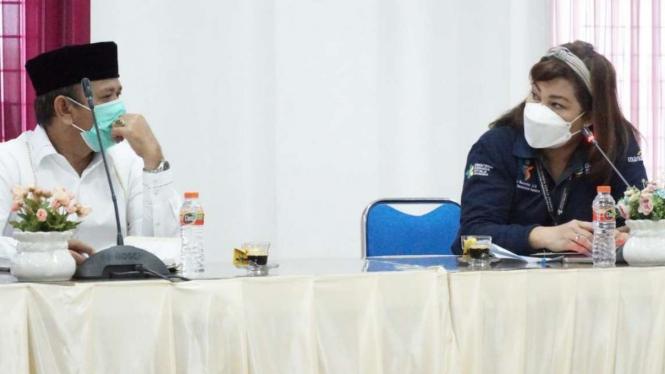 Pertemuan Bupati Aceh Besar dengan Pegawai Kemenkes RI
