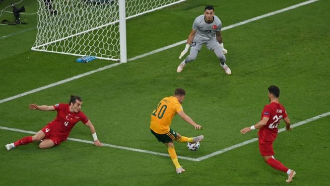 Pertandingan Turki melawan Wales di EURO 2020