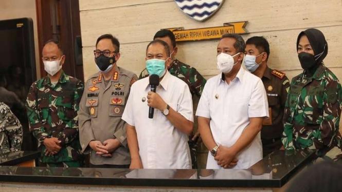 Wali Kota Bandung Oded M Danial bersama forkopimda